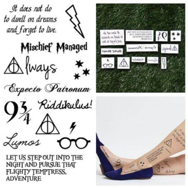 Buy Tattify Harry Potter Temporary Tattoos, Youre a Wizard, Set of 24 - intl Singapore