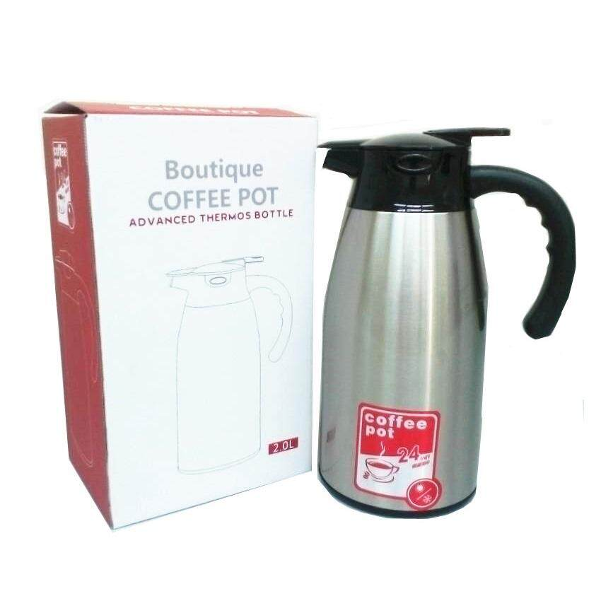 (LZ) 2.o Lit Stainless Steel Double Wall Vacuum Insulated Thermo Coffee Pot