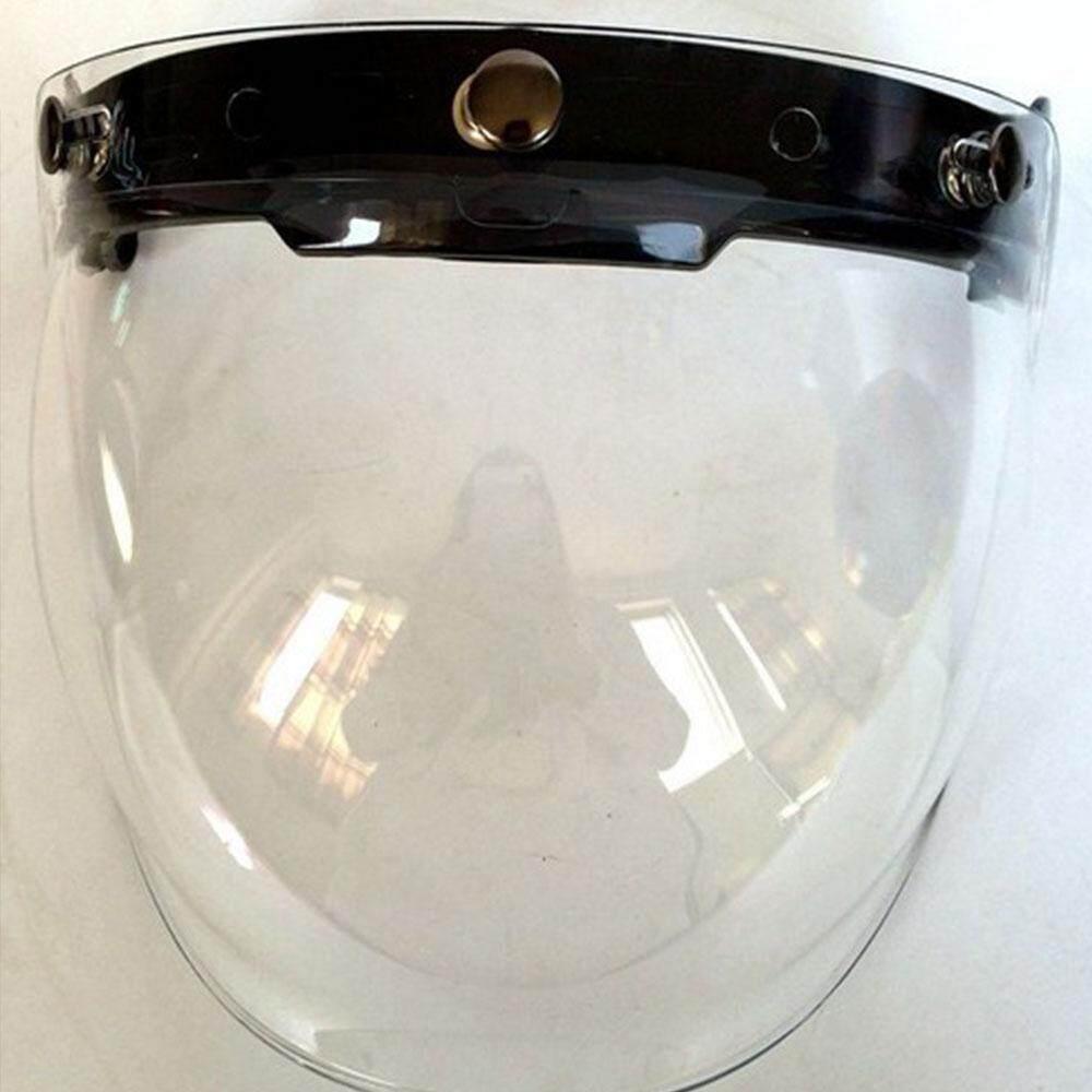 Detail Gambar Yoyotoy Motor Helm Kaca Helm Wajah Penuh Lensa Kaca dengan 3 Terkunci + Base