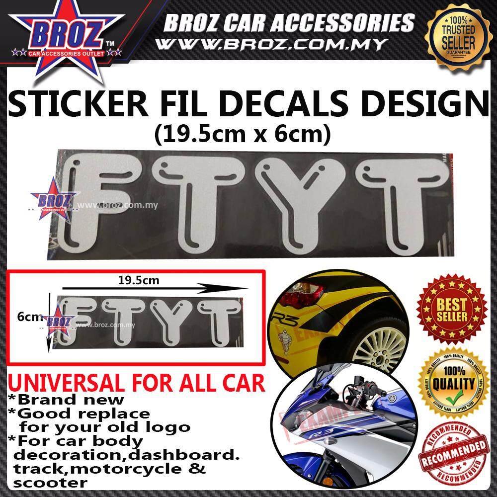 FTYT Decals Design Sticker - (WHITE)