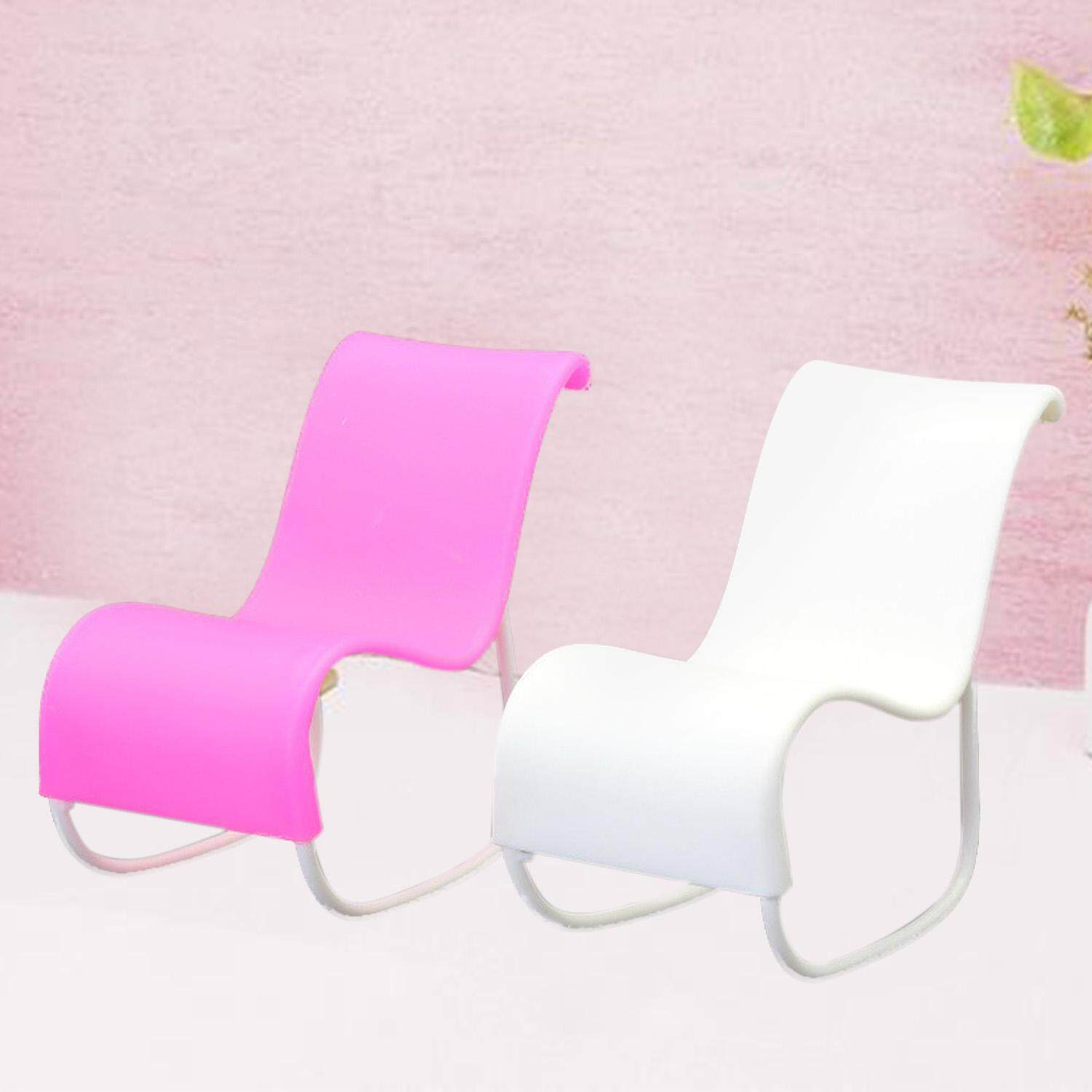 2 PCS Doll Beach Lounge Rocking Chair Living Room Furniture Accessories for Barbie Toys Princess Dreamhouse Garden - intl