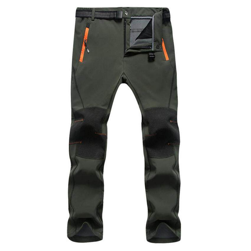 China. Men s Water Repellent Pants Outdoor Sports Softshell Fleece Trousers  Hiking Camping Trekking Ski Waterproof Pants - f9a2b082e