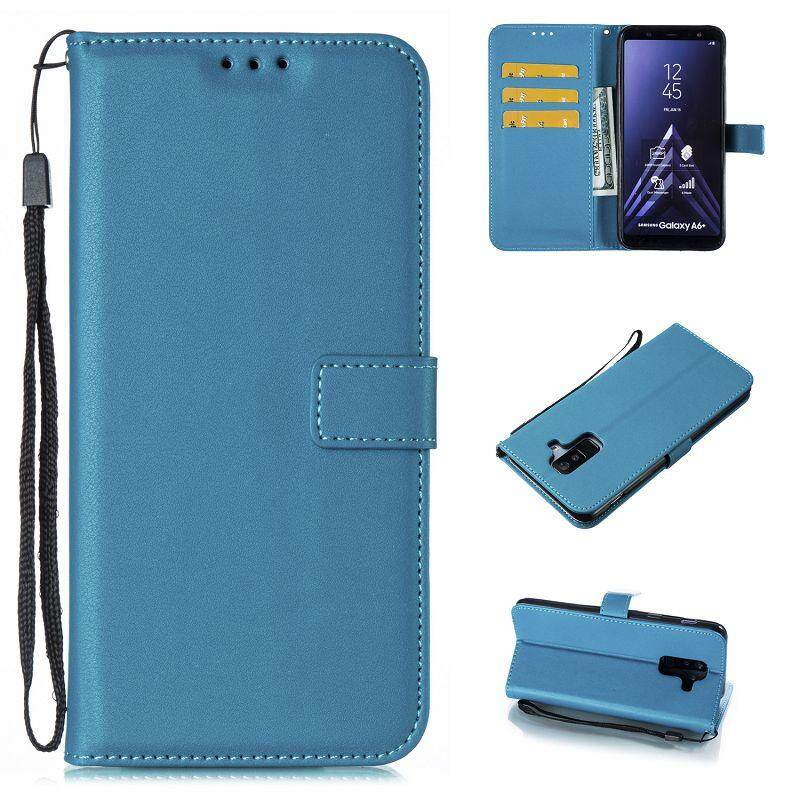 Untuk Samsung A6 Plus Pu Slot Kartu Kulit Flip Magnet Dompet Stand Cover Case