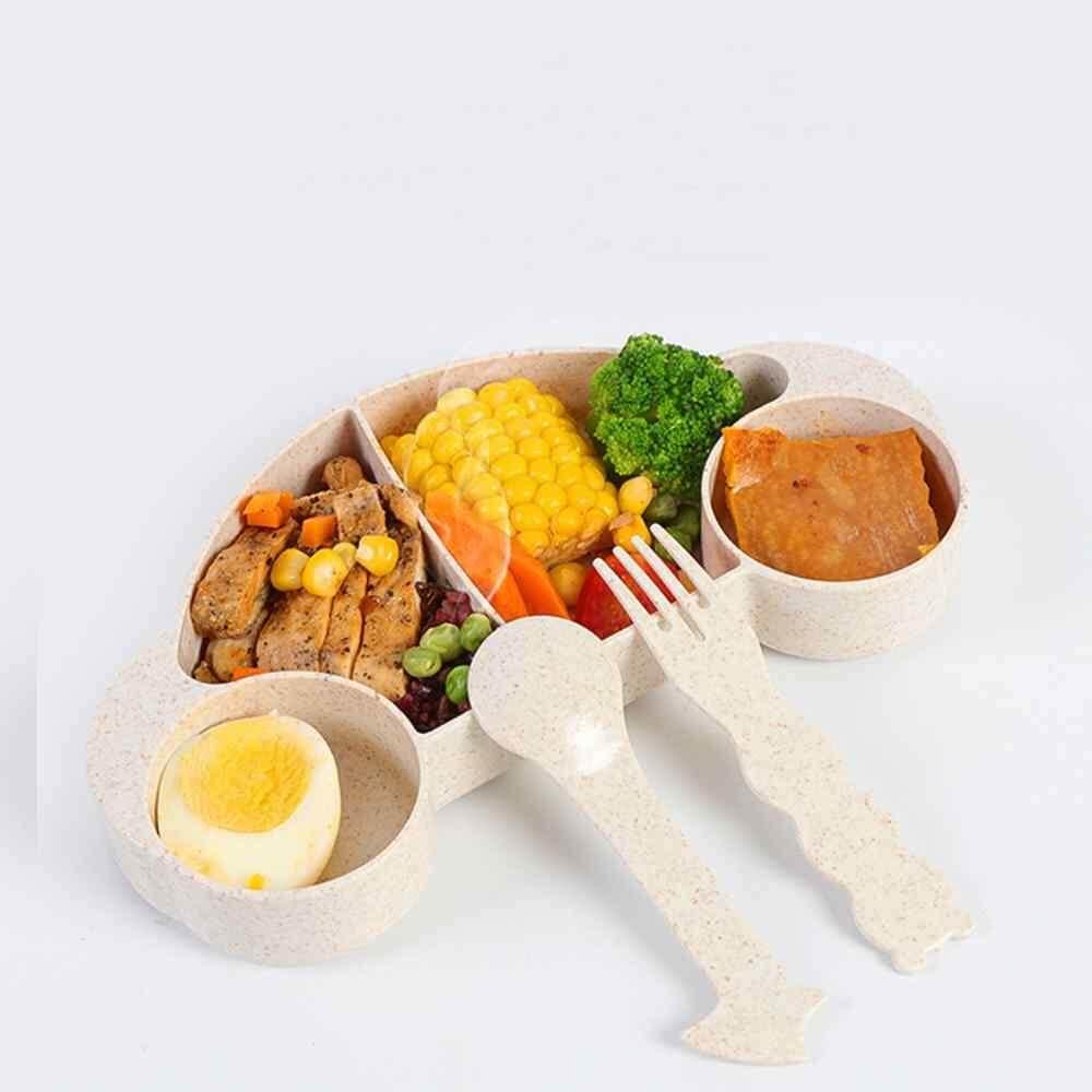 Angkatan Udara Mangkuk Bayi Meja Kartun Anak Makanan Hidangan Bayi Mangkuk Makan/Sendok/Garpu