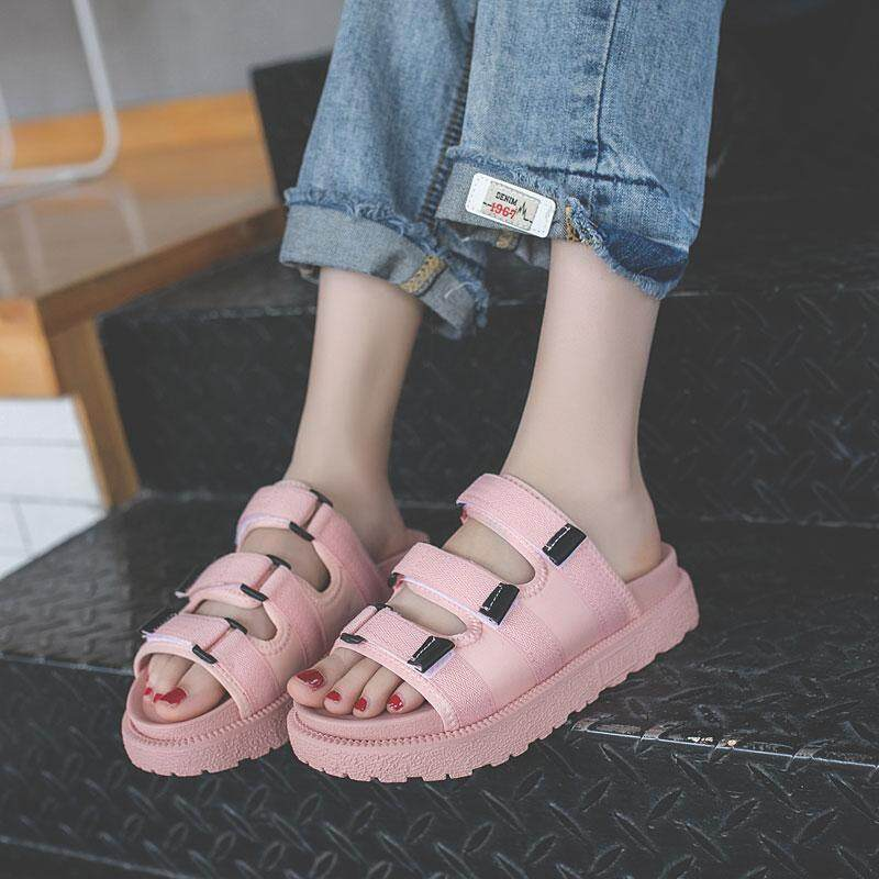 dc576c4756 The Summer Wear Slippers 2018 New Korean Muffin Thick Bottom Drag All-match  Word Female