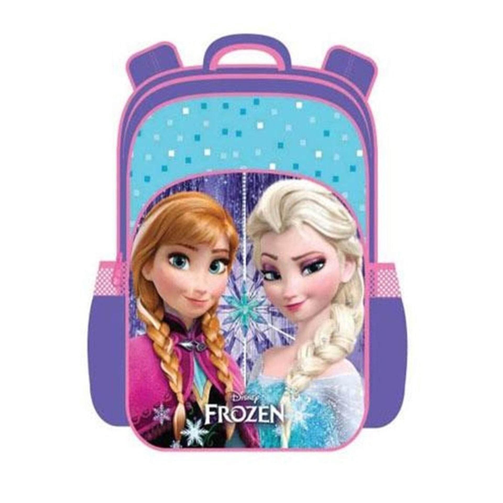 Disney Princess Frozen Pre School Backpack Kindergarten Nursery Kids Children School Bag - Blue Colour