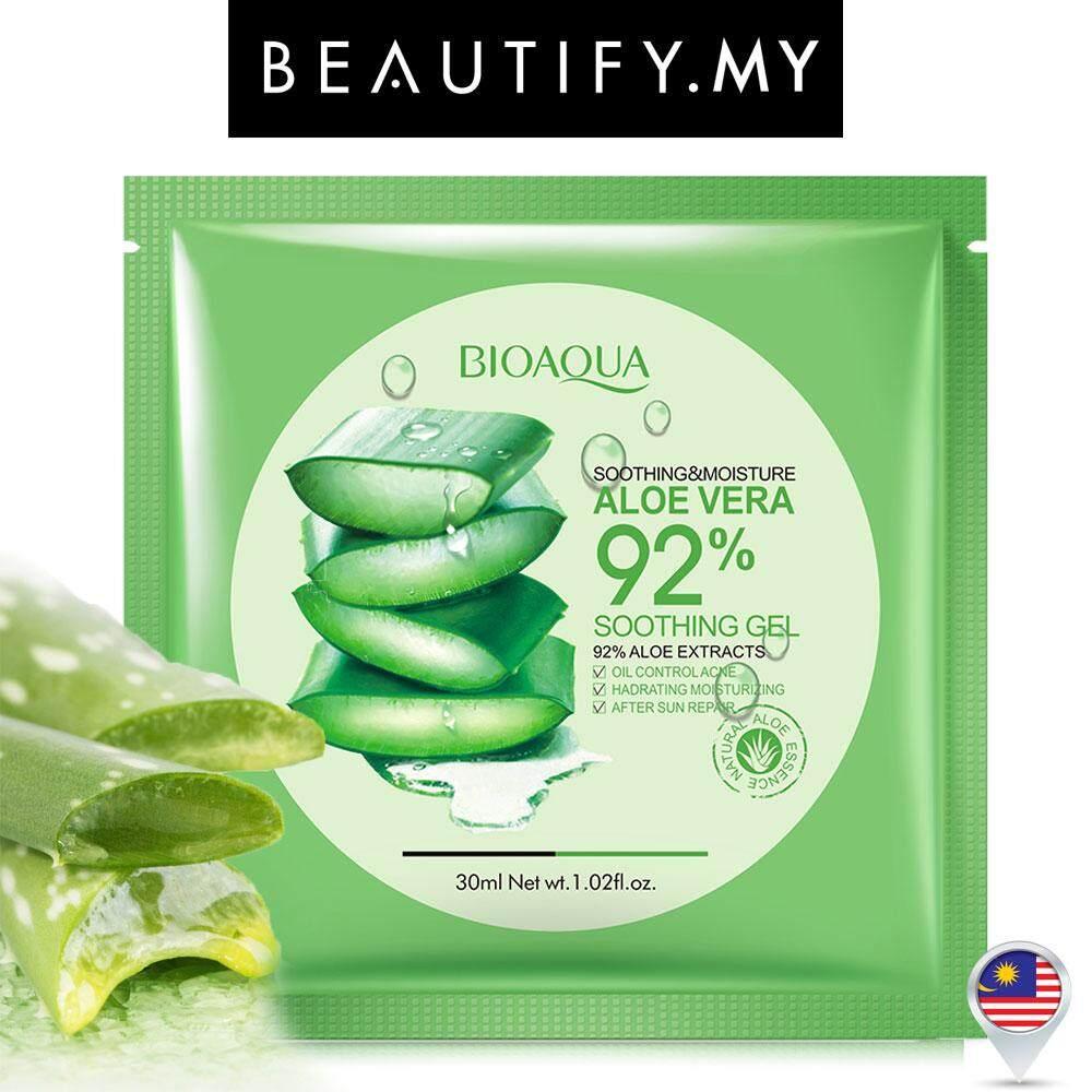 Fitur Bioaqua Aloe Vera Soothing Gel 92percent 220ml Dijamin Ori Dan 160ml Natural Mask 10sheets