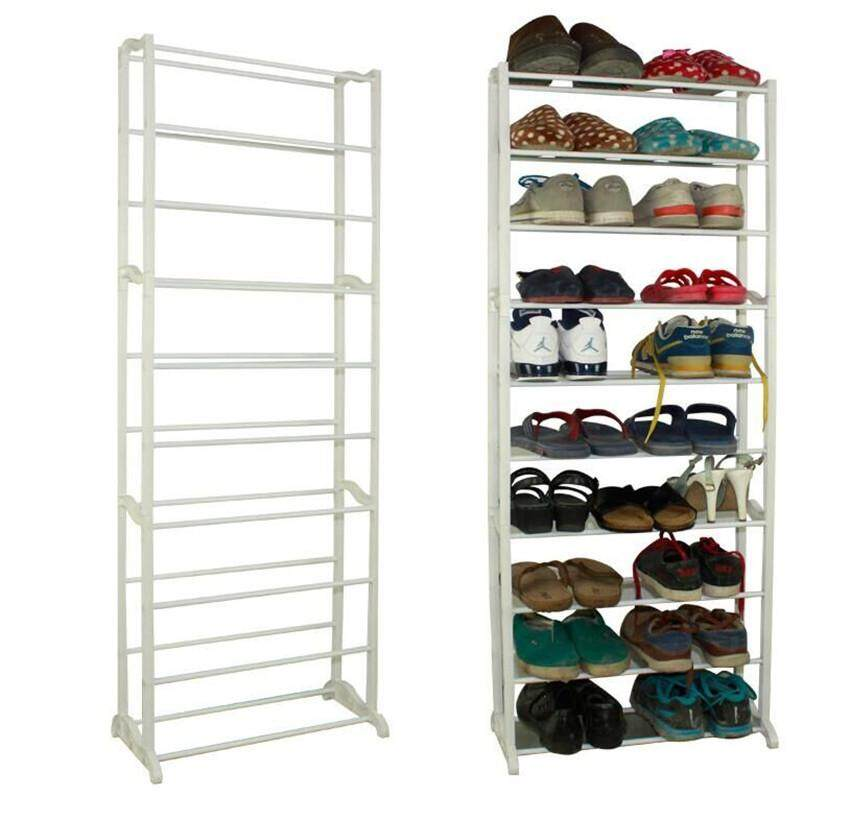 Simple ten-layer combination shoe rack, multi-functional assembly shoe cabinet, 10-layer plastic storage rack