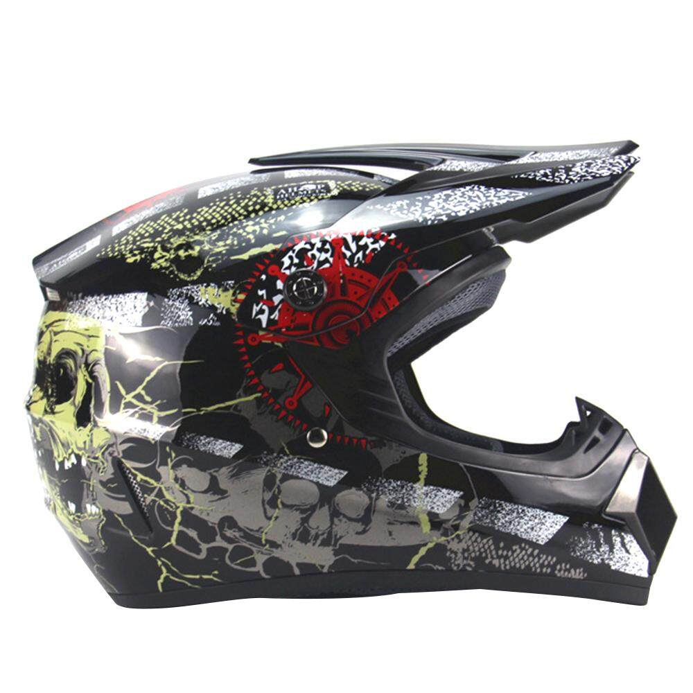 Professional Racing Motocross Casque Hors Route Motorcycle Helmet Black Xl(0.59-0.6m) By Ttech.