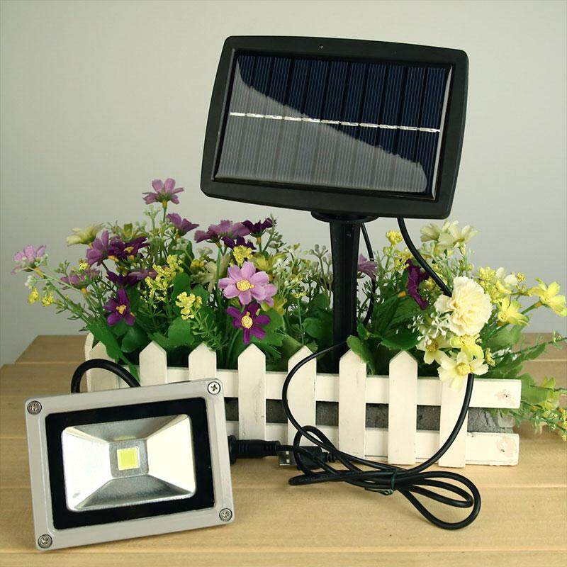 BOOM 10W Solar Power LED Flood Night Lights Spotlight Waterproof Outdoor Lamp Bright - intl