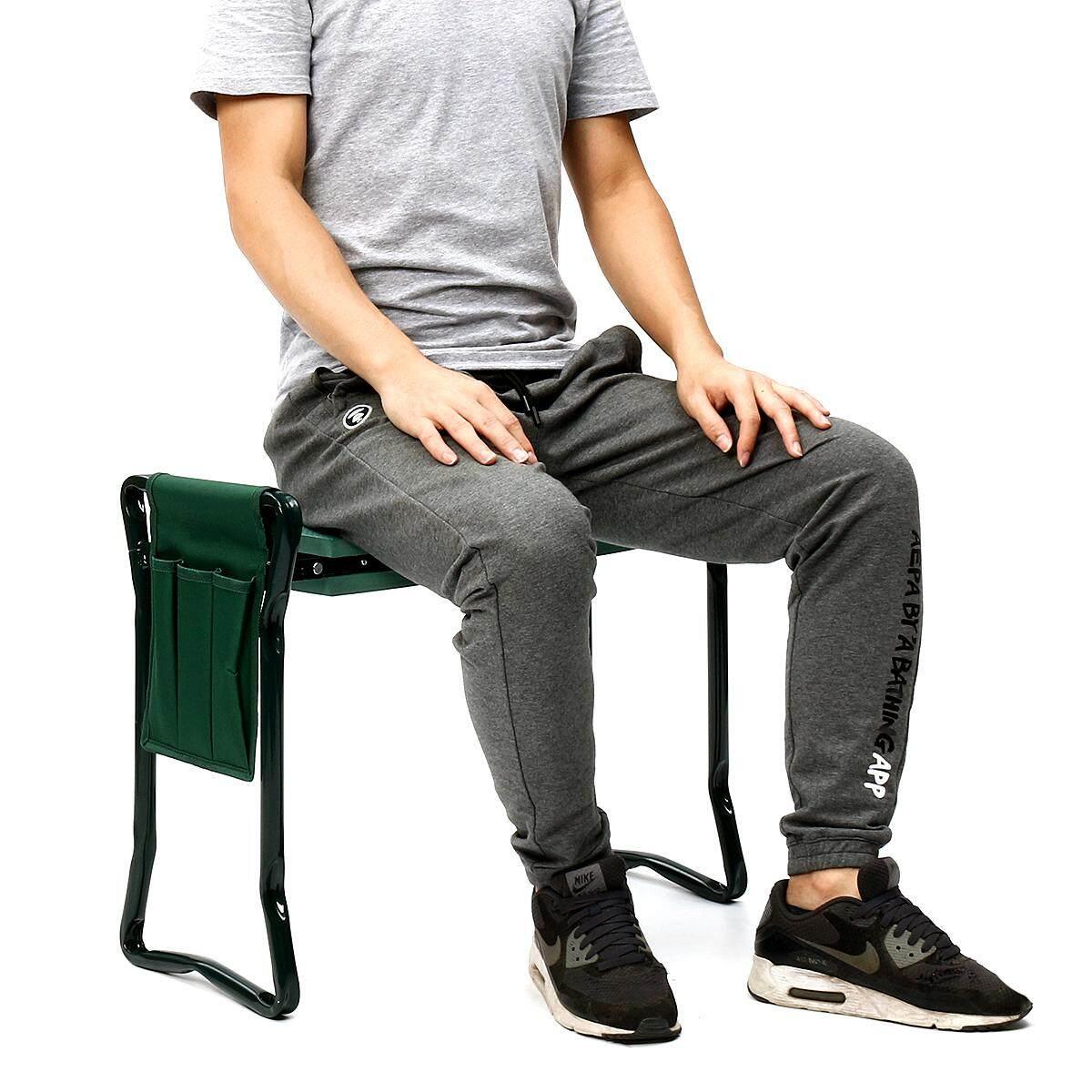 Portable Folding Garden Kneeler Kneel Chair Pad Cushion Comfort Seat Stool OZ