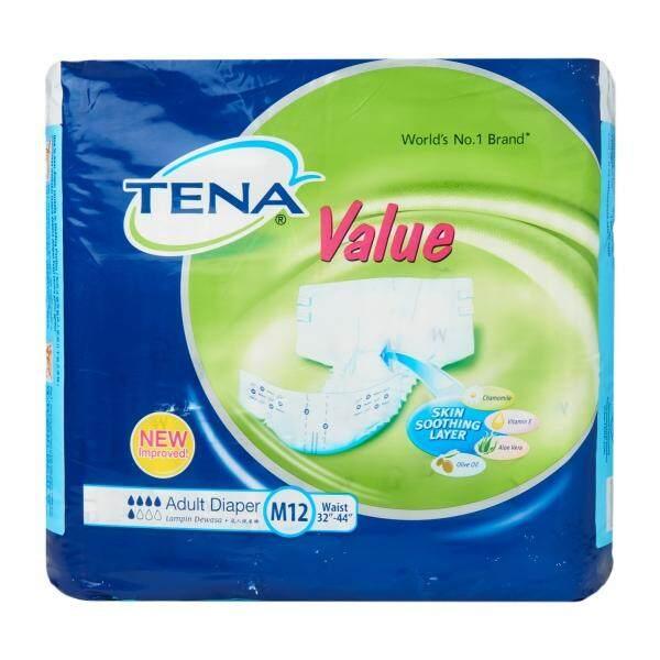 Tena Value Adult Diaper 2X the Absorbency- M Size (12pcs/bag)