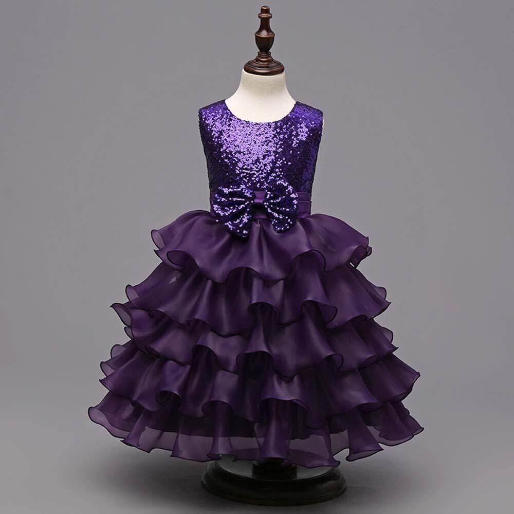 Teresastore Toddler Baby Girls Kids Bowknot Wedding Bridesmaid Tutu Princess Pageant Dress - intl