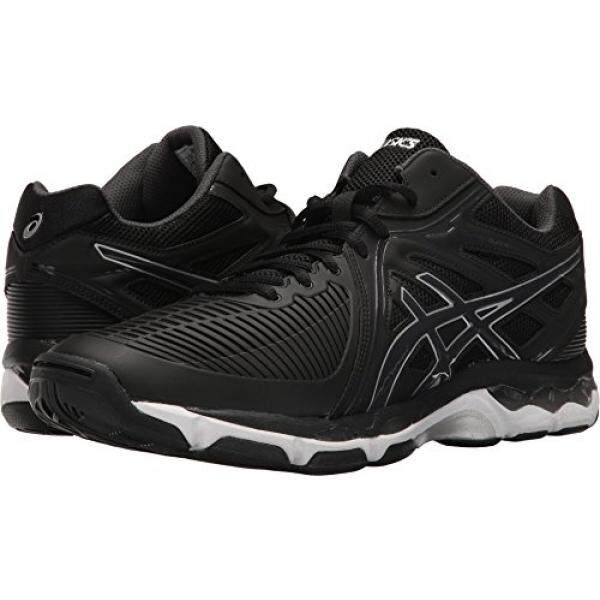 ASICS Mens Gel-Netburner Ballistic MT Volleyball-Shoes, Black/Dark Grey/Silver, edium US / From USA