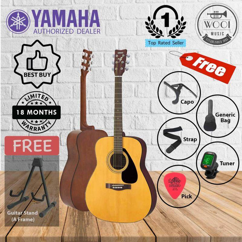 Yamaha F310 Acoustic Guitar (F-310) (FREE A Frame Guitar Stand, Bag, Tuner, Capo, Strap & Pick) Malaysia