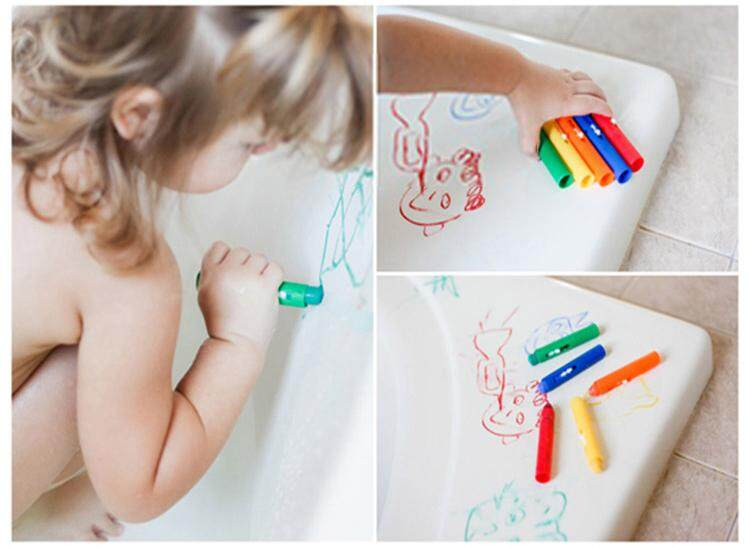Mua 6Pcs Colorful Child Baby Bath Crayons Toys Washable Painting Drawing Doodle Brush Safety Wax Pen