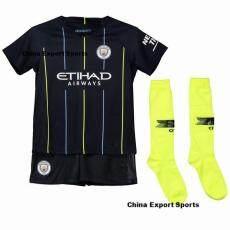 (3-18years) 2019 Musim Baru Top Quality Man City Away Football Jersey Kit
