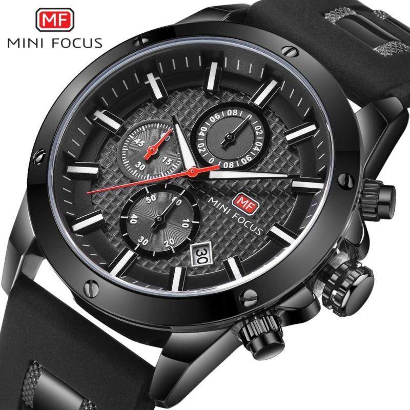 MINI FOCUS Top Luxury Brand Watch Famous Fashion Sports Cool Men Quartz Watches Calendar Waterproof Leather Wristwatch For Male MF0089G.02_FZ1 Malaysia