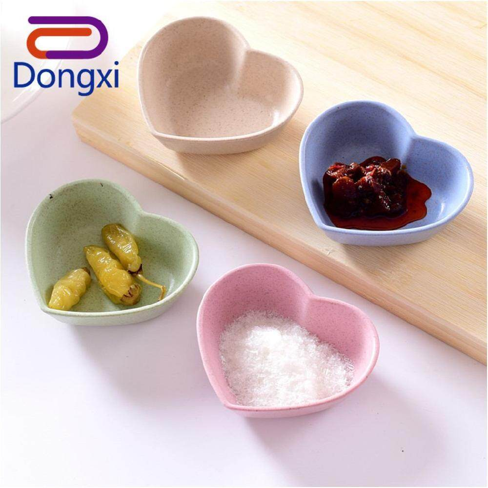 Dongxi 4 Pcs Wheat Plum Shape Multi-purpose Sauce Bowl