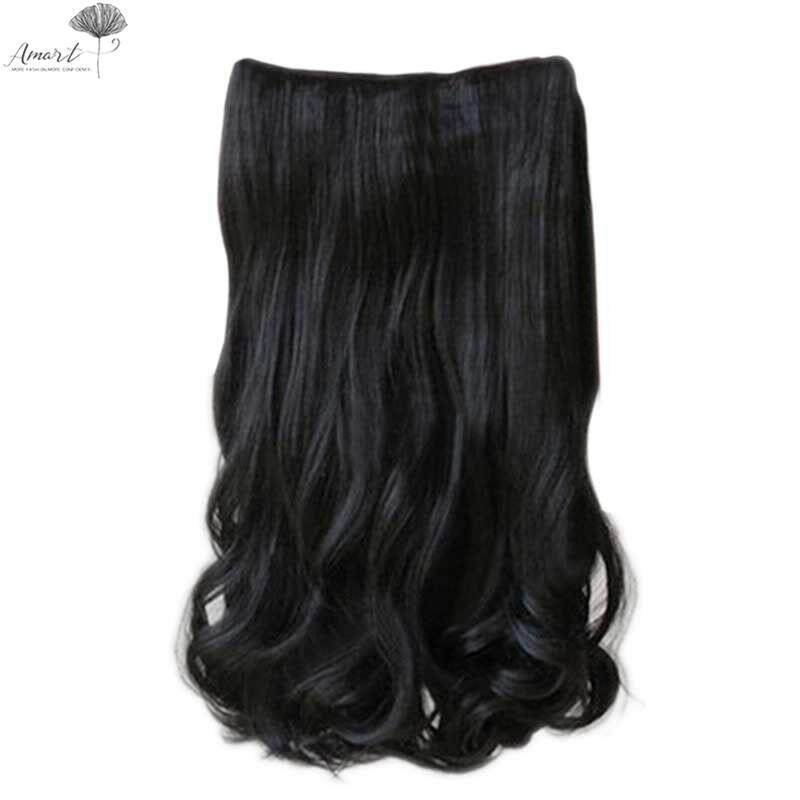 Amart Korean Fashion 5 Clips In 60cm Women Long Curly Wavy On Hair Extensions Full Head