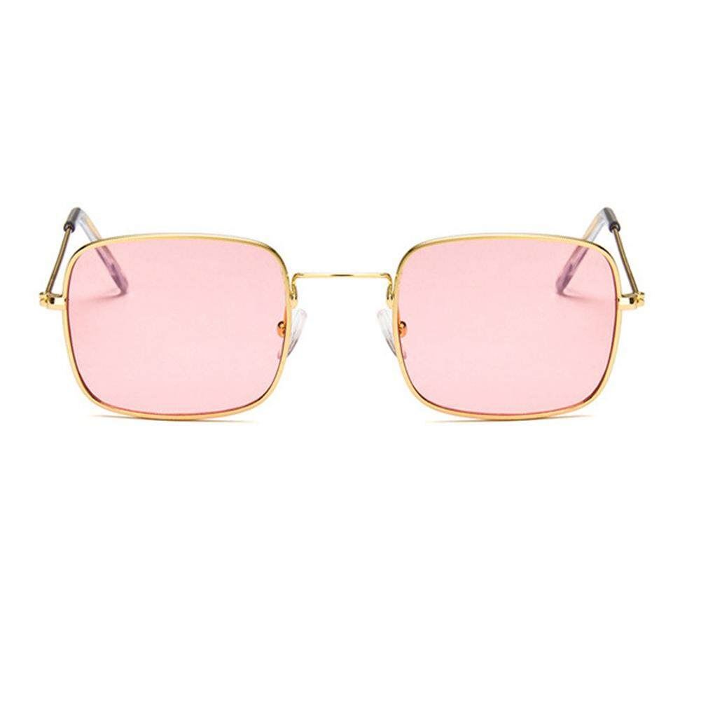 Kacamata Frame Ocean Lensa Berjemur Lensa Kaca Warna: Gold Bingkai dan Transparan Pink Lensa-
