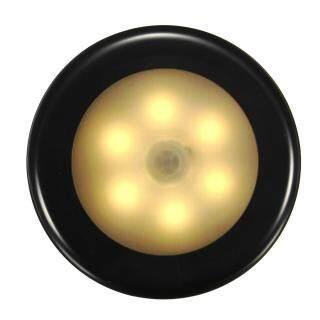 Thông Tin Chi Tiết Về 6 Đèn LED Gắn Tường Kích Hoạt Cơ Thể Đèn Ngủ Siêu Mỏng Thông Minh, Đèn Ấm HY10-Vỏ Màu Đen Ấm Áp Trắng thumbnail