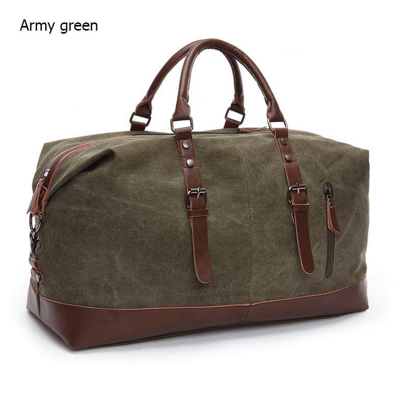 Silentsea Canvas Leather Men Travel Bags Vintage Carry On Luggage Bags Men Duffel Bags Fashion Travel Tote Handbags Messenger