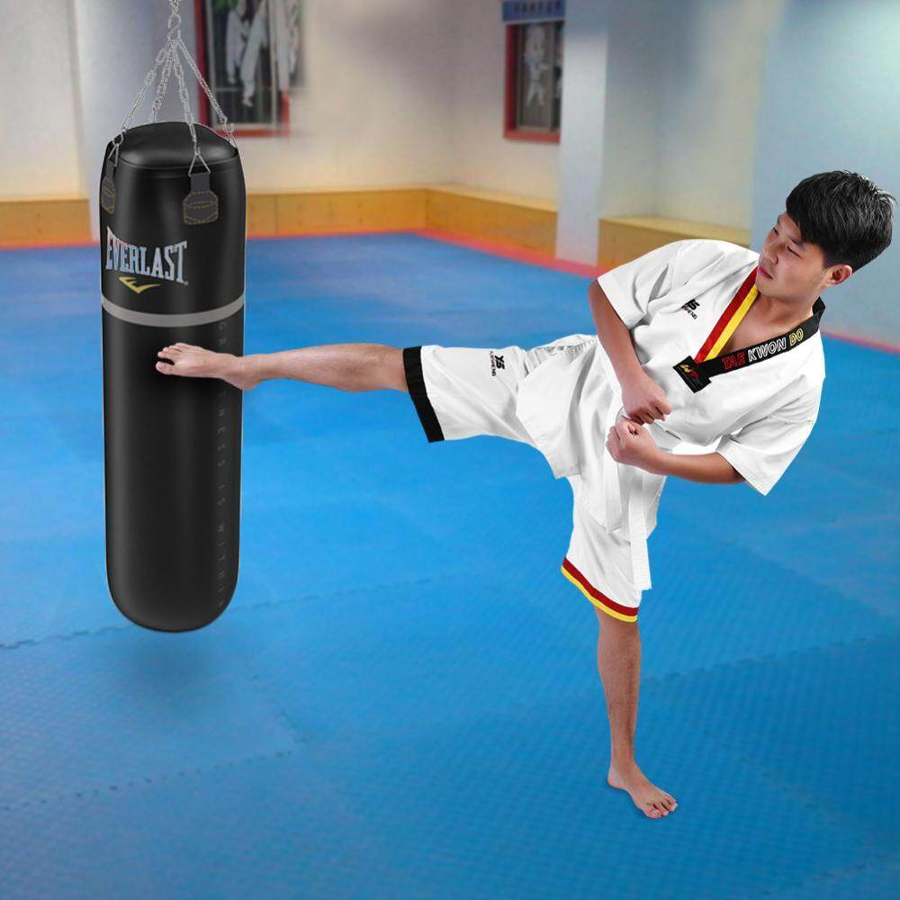 Hình ảnh Full Cotton Taekwondo Short Sleeve Uniform Karate Costume for Adults & Kids (130) - intl