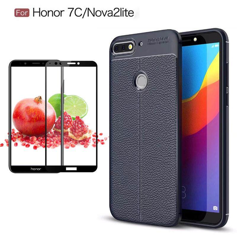 Untuk Huawei Nova 2 Lite Lengkeng Silikon Lembut Pelindung Case Shockpproor Penutup Belakang dengan Penuh Ditutupi