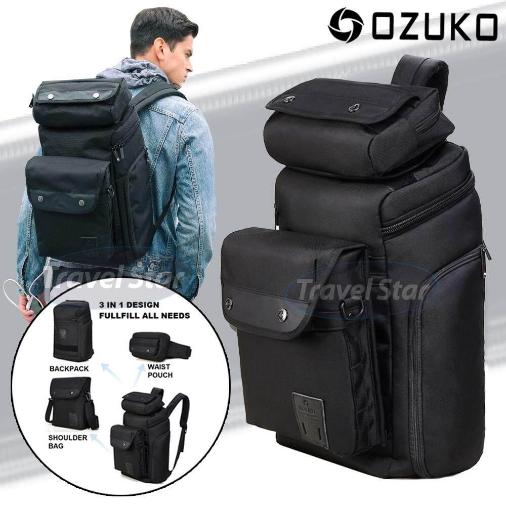 TRAVEL STAR OZUKA 9016 3 In 1 Inter Transform Multifunctional Premium Laptop Casual Backpack