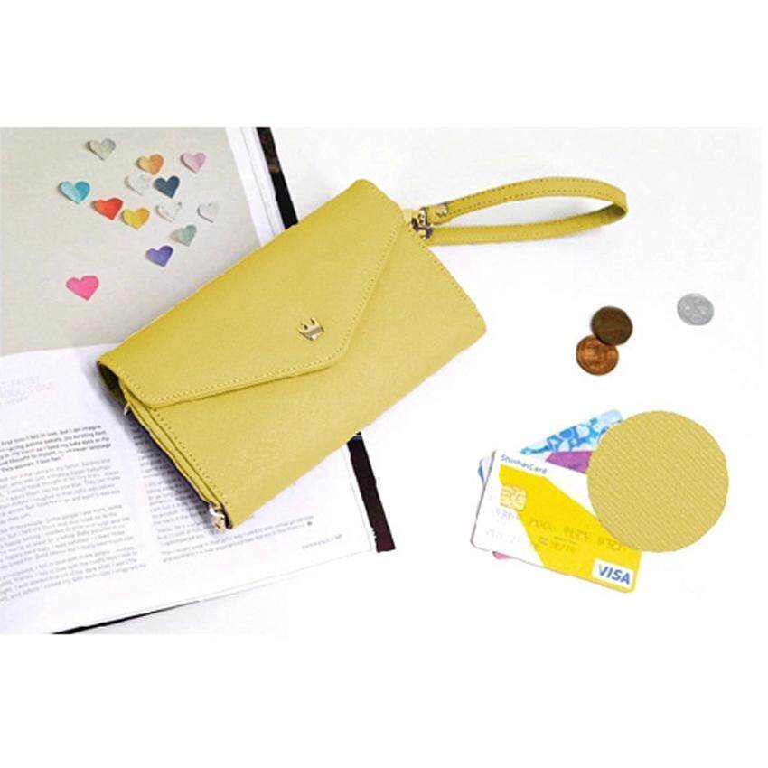 Korean Donbook Woman Long Wallet Purse Phone Card Leather