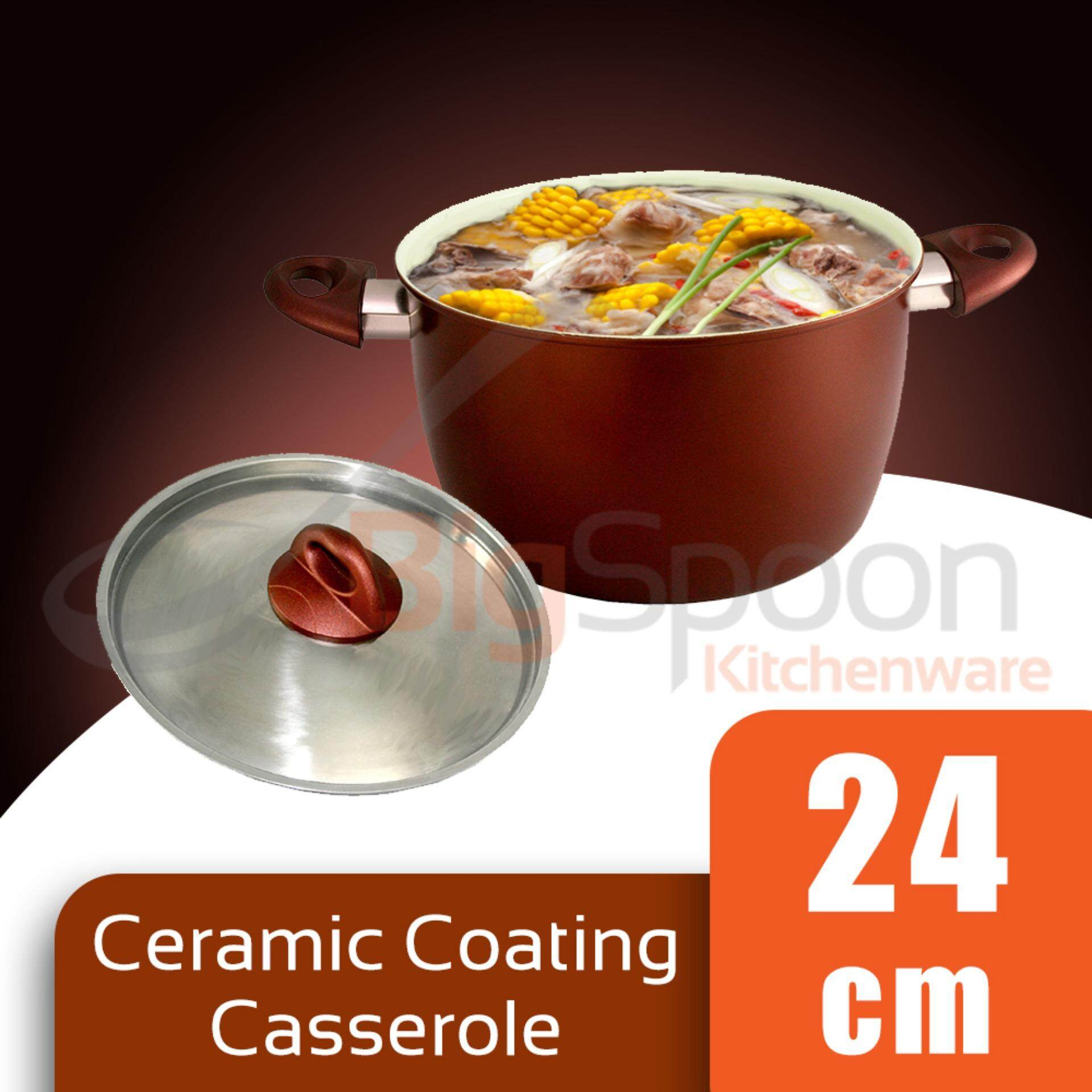 Casserole Ceramic Coated Non-Stick 24cm