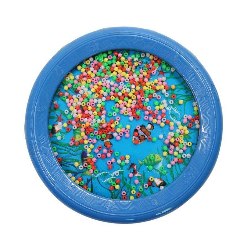 GOOD Fashionable LYH18P Ocean Wave Bead Drum Sea Sound Educational Toys for Gift blue