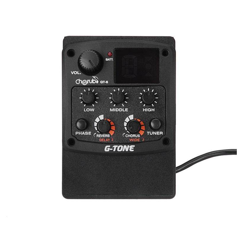 YANYI Acoustic Guitar Preamp Piezo Pickup 3-Band EQ Equalizer LCD Tuner with Reverb/Delay/Chorus/Wide Effects