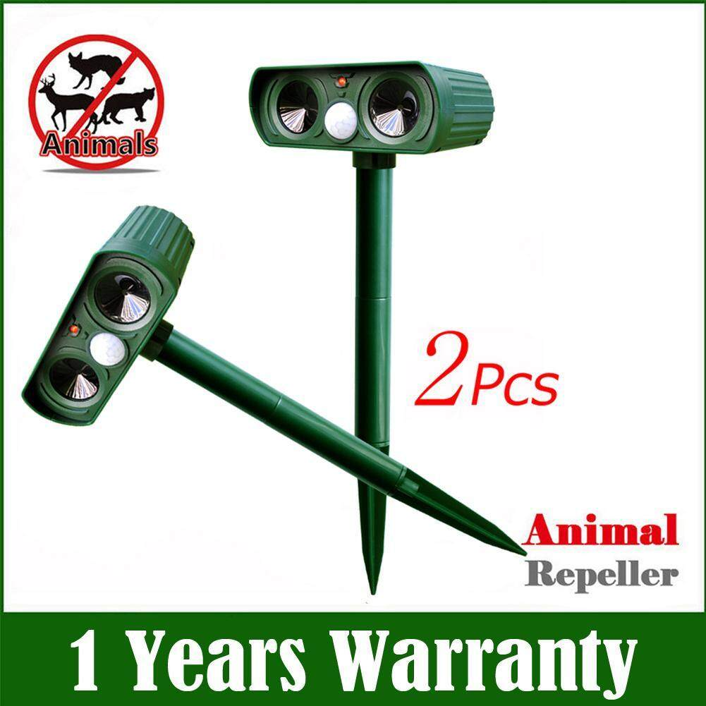 2pcs Fashion Solar Ultrasonic Pest Animal Bird Cat Dog Repeller Repellent By Companionship.