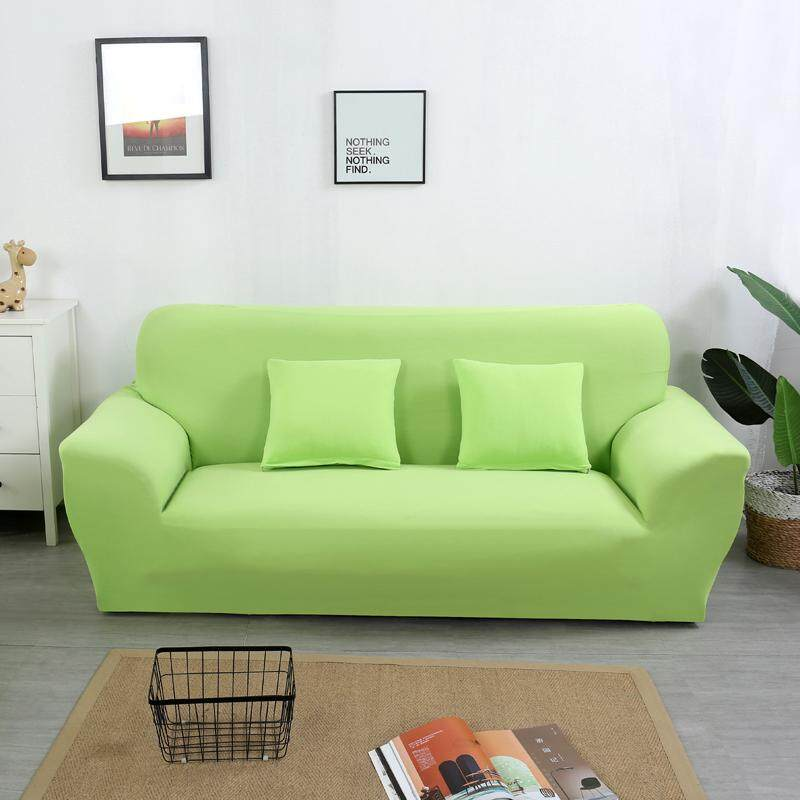 3 Seater Classic Solid Color Sofa Cover Stretch Couch Cover Sofa Slipcovers Free 1 Pillow Case