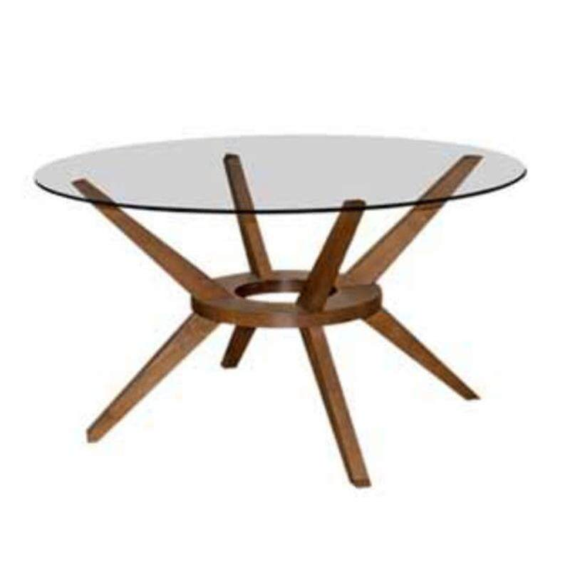 Furniture Direct Boston D140cm Beechwood Gltop Round Dining Table