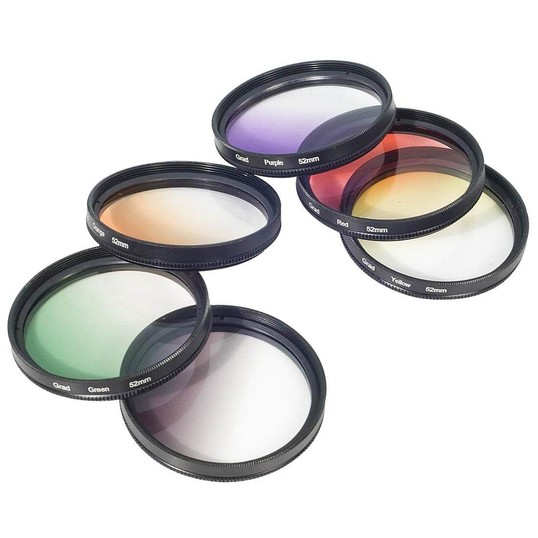 Color Filter Set Gradual 52mm For Nikon D4 D3X D800 D700 D600 D300S D300 D7100 D7000 D5200 D5100 D5000 D3200 D3100 D3000 D90 D80 D70 D60 D50 D40 LF139