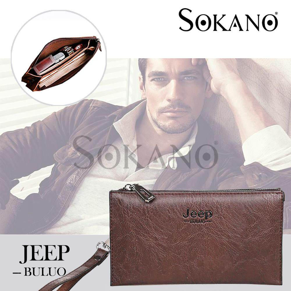 (RAYA 2019) SoKaNo Trendz SKN916 JEEP NEW Professional Men Fashion Leather Hand Bag Hand Pouch Dompet