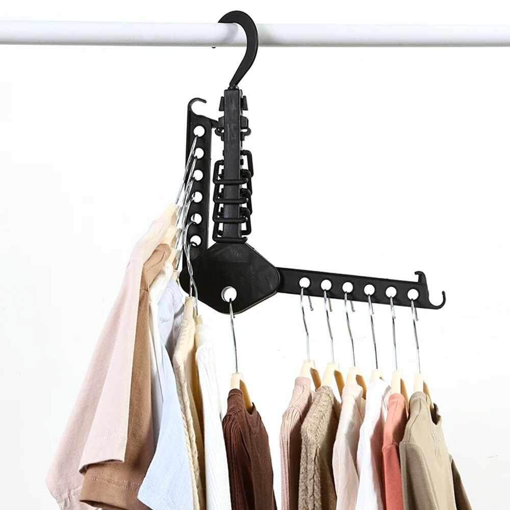 DOXIY Folding Transportable Laundry Stand Drying Rack Dual Tier Tripod Clothes Hanger