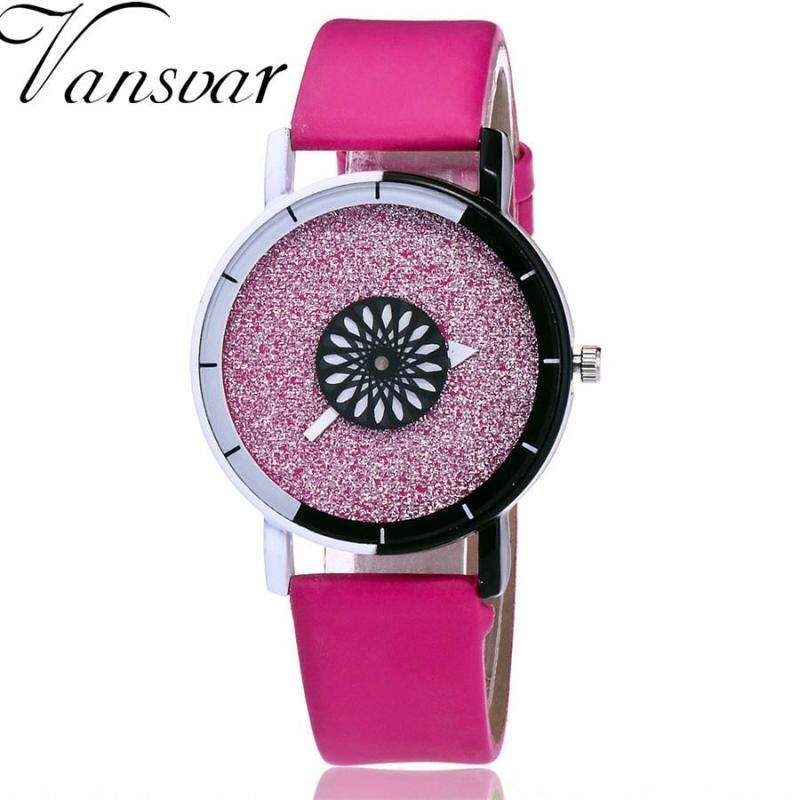 Vansvar Womens Casual Quartz Leather Band v Strap Watch Analog Wrist Watch Malaysia
