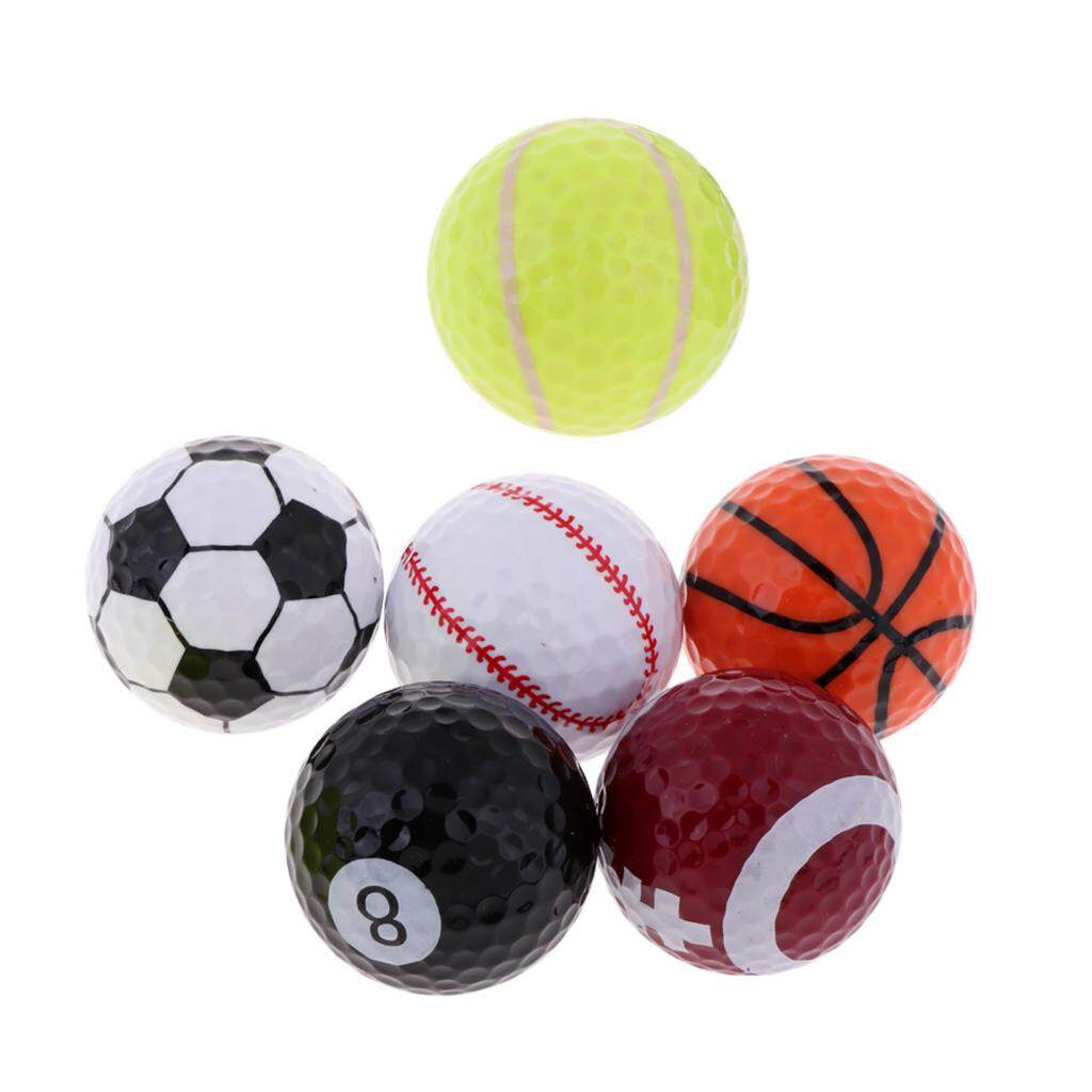 Miracle Shining Sports Themed Golf Balls Set By Pack Of 6 Novelty Balls Gift Idea For Golfer By Miracle Shining.