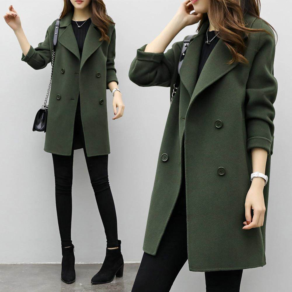 6c2f6205a15 Stylish Womens Autumn Winter Jacket Casual Outwear Parka Cardigan Slim Coat  Overcoat