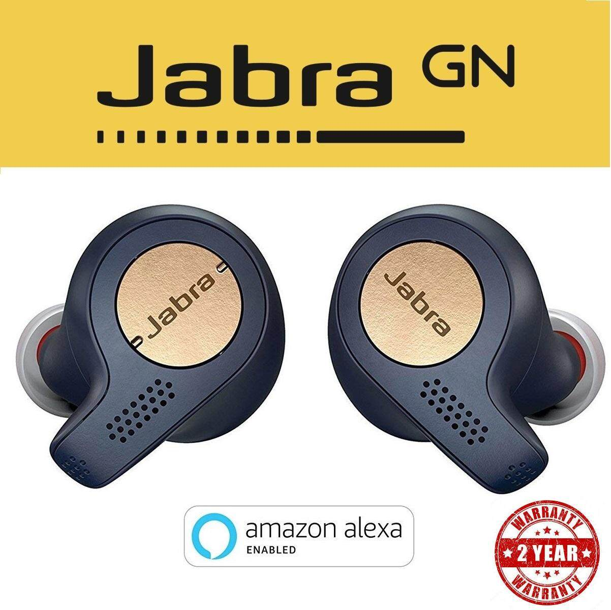 Jabra Elite Active 65t Alexa Enabled True Wireless Sports Earbuds with Charging Case Copper Blue ( 2 Years Warranty )