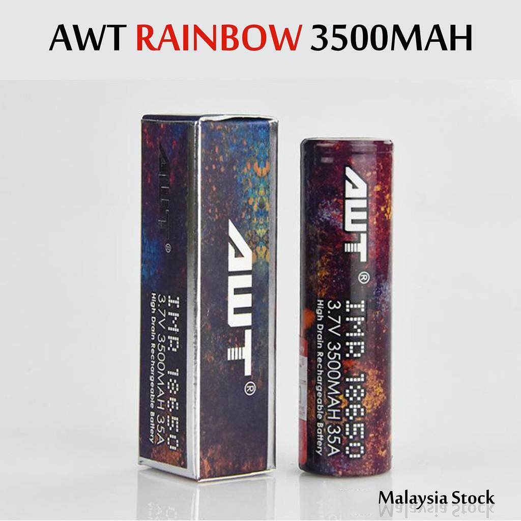 AWT 18650 3500mah 35A HIGH DRAIN BATTERY li-ion battery Malaysia
