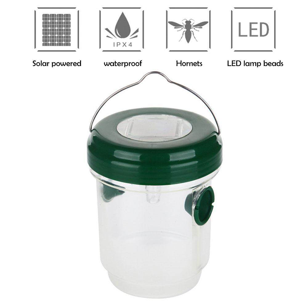 Hình ảnh niceEshop Solar Outdoor Wasp Trap Killer With UV LED Light – Traps Wasps, Yellow Jackets, Bees, Hornets, Etc. - Effectively Lures, Traps And Retains Bees Until They Die [UPGRADED]