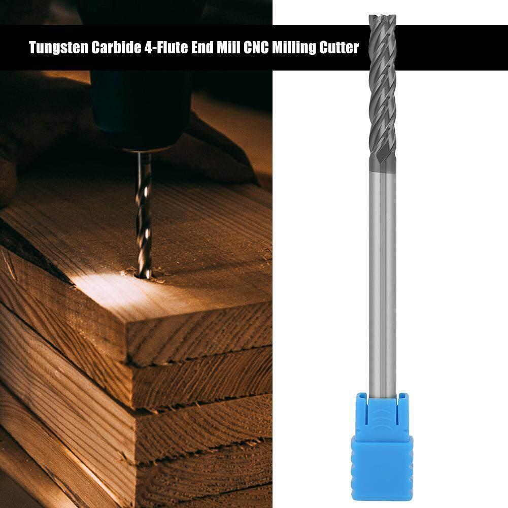 Sunflower 1pc HRC45 Tungsten Carbide 4-Flute End Mill CNC Milling Cutter 6mm Diameter x 100mm Length