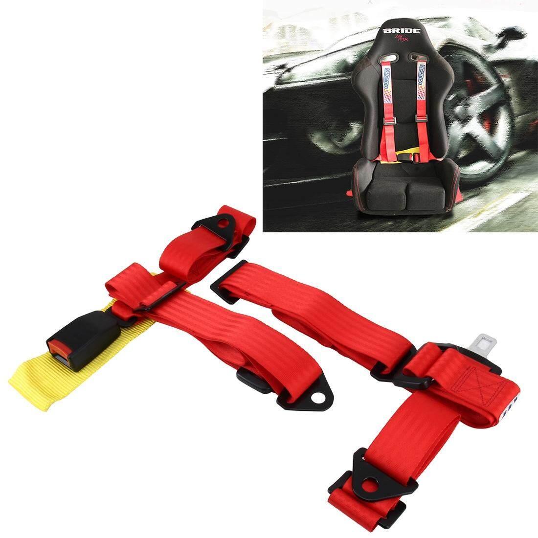 Universal Balap Kendaraan Pengaman Mobil Otomatis Kepala Gesper Harness Racing Sabuk Pengaman Baju Rantai Mobil Drift Balap Penting Ringan Sabuk (Merah) -Intl