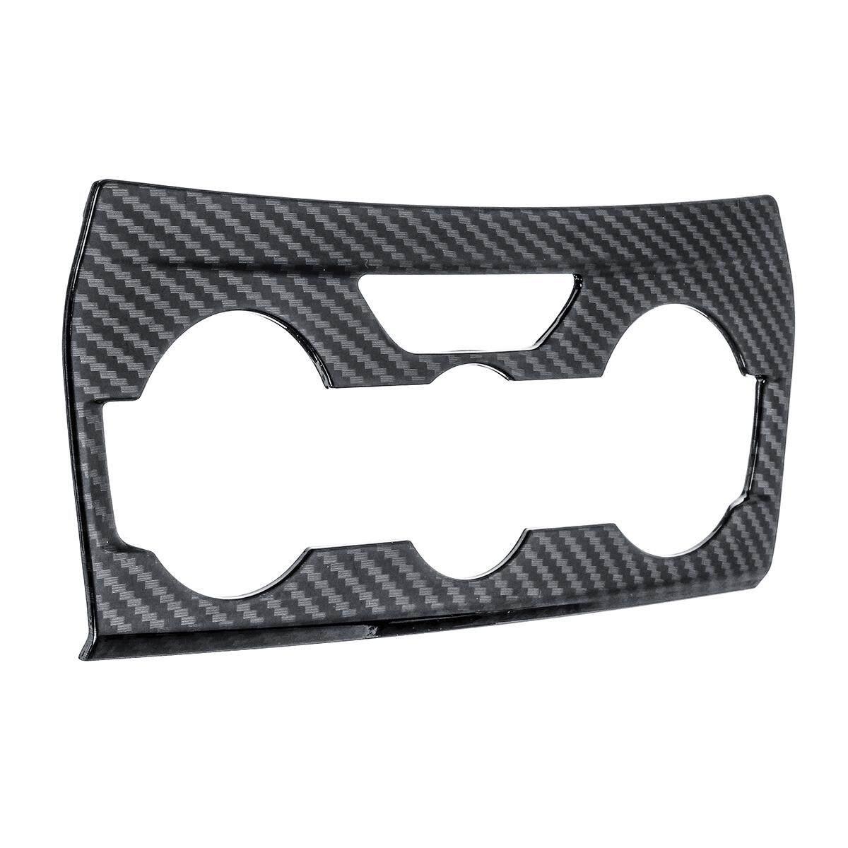Untuk Subaru Crosstrek XV 2018 Dashboard A/C Sakelar Lampu Peringatan Trim Pelindung Serat Karbon