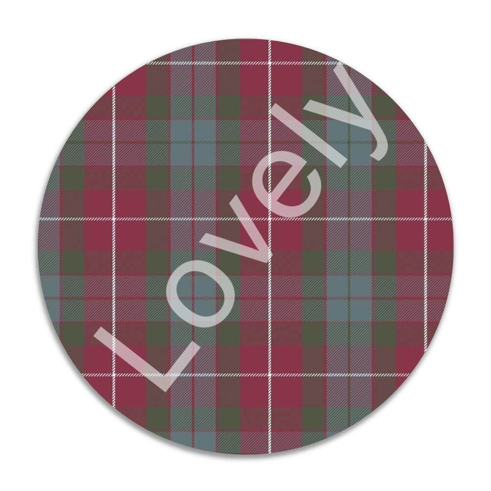 Gaming Mouse Pad, 7 Inches Round Natural Rubber Base, Non-Slip Mouse Mat Fraser Red Weathered Tartan 1J1507 - intl